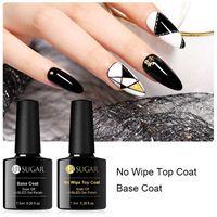 UR САХАР 7.5ml Base Coat Top Coat UV LED гель лак для ногтей Полупостоянное Foundation Soak Off Прозрачный лак Лаки