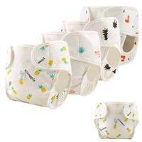 Tissu Couches bébé Nappies de coton réutilisables Couverture Nappy lavable lavable imperméable Born Born Panies Pocket