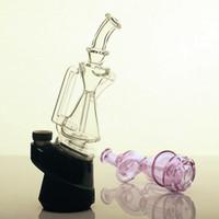 Le nouveau recycleur de verre de pointe de couleur avec un verre épais et violet pour fumer beignet bong le pic de gret