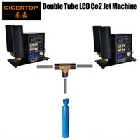 GIGERTOP T Connection Gas Tubo flessibile a gas doppio tubo display LCD PRO CO2 Jet Machine Power IN / OUT Connect DMX512 / Controllo manuale Nuova valvola a solenoide