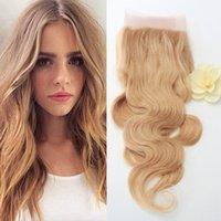 Evermagic волос # 27 Блондинка Кружева Фронтальная Закрытие 13x4 уха до уха Бразильский Body Wave 8-20 дюймов Человеческий волос Remy Free Shippiping