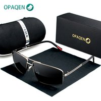 2020 OPAQEN Fashion Sunglasses Men Polarized Small Lens Squa...