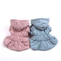 جديد الأميرة كلب الدافئة اللباس البلوز الزهور فقاعة تنورة فتاة القطة الكلب معطف الشتاء الزي الملابس