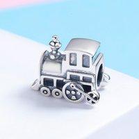 CodeMonkey 100% Real 925 Sterling Silver Vintage Locomotive Train Car Charm fit Women Charm Bracelet DIY Jewelry Making CMC507