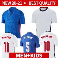 2020 2021 Soccer Jersey Kane Sterling Rashford Sancho Henderson Barkley Maguire 20 21 22 لاعب نسخة القمصان الوطنية لكرة القدم الرجال + Kids Kit مجموعات الزي الرسمي