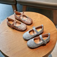 Autumn Girl Princess Shoes Fashion Solid Color Sequins Baby ...