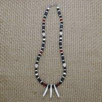 Esquidiças rústicas cão artesanal dente colar homens crânio para acessórios jóias tribais presente ele co-15