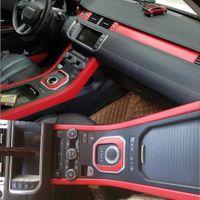ل Land Rover Range Rover Evoque الداخلية لوحة التحكم المركزية لوحة مقبض الباب ألياف الكربون ملصقات الشارات سيارة التصميم ملحقات