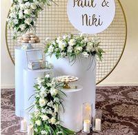DIY Düğün Süsleme tatil için Kek masası Tatlı tablo Yuvarlak Silindir Kaideye Ekran Sanat Dekor Süpürgelikl Sütunlar