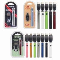 Lei vértice Pré-aqueça Bateria Kits pré-aquecedor 350 650 1100mAh VV Variável Tensão Pré Calor Mini Charger USB Co2 Cartuchos de Óleo Espesso Vaporizador