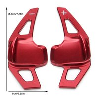 New pattern For BMW 3 5 Series F10 F30 Steering Wheel DSG Paddle Extensions Shifter Kit Red