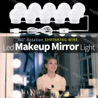 Vanity Lights Three Color 4000-5000K Touch Dimmable Alway On Mirror Makeup USB 5V Hollywood Bulb Indoor Lighting For Studio Dressing Table Bedroom Bathroom DHL