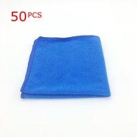 50PCS الرئيسية غسل منشفة ستوكات الناعمة تنظيف السيارات العناية الملابس غسل منشفة المنفضة 9.84 بوصة × 9.84''Inch ستوكات