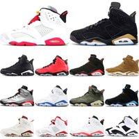 nike air retro jordan 6 2020 Yeni 6 6 S Hare DMP Erkekler Basketbol Ayakkabıları Yıkanmış Denim Siyah Kızılötesi Altın Hasat Öfkeli Boğa Erkek Spor Sneakers Eğitmenler