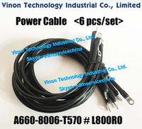 A660-8006-T570 # L800RO كابلات كهرباء (6 PCS / SET) لآلة فانوك W2. التنظيم الإداري أجزاء ارتداء A6608006T570، A660.8006.T570 / L800RO، A660-8006-T570-L800RO