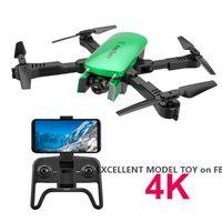 R8 4K HD Dual Camer WiFi FPV طوي لعبة بدون طيار، موقع التدفق البصري، التقاط الصورة من خلال الإيماءة، تتبع الرحلة، متابعة السيارات، الارتفاع، 3-1