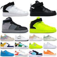 Erkekler Kadınlar Platformu Orta Koşu Ayakkabıları Kaykay Gölge Ladin Aura Soluk Fildişi Tropikal Büküm Sneaker Trainer Düşük Kesim Bir 1 Dunk Ayakkabı