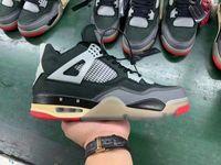 Yeni Sürüm 4s OW X BRED 4 CV9388001 Erkekler Basketbol Ayakkabı Spor Sneakers En Kaliteli 2021 Ayakkabı