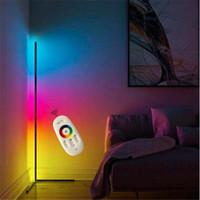 현대 RGB LED 코너 플로어 램프 침실 침대 옆 거실 분위기 다채로운 상임 램프 홈 인테리어 바닥 조명 조명