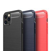 Robuste Rüstung Hybrid Carbon-Faser-Stoß- weicher TPU Anti Stoß- Abdeckungs-Fall für iPhone 12 Pro Max 11 XS XR X 8 7 6 6S Plus-SE 2020