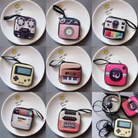 Neue kreative tinplate Geldbörse Mini-Schlüsselkasten retro Aufzeichnungsband Gepäck Muster Kopfhörer Münze Aufbewahrungstasche
