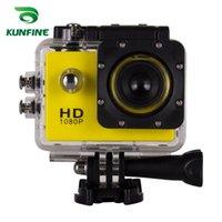 "KUNFINE MİNİ HD Spor DV Eylem Kamera Sport Kaydedici 2.0"" Ekran 170 CMOS-Sensör Su geçirmez 7 Renk SJ4000-P araç dvr"