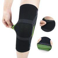 2020 Joelho respirável Sports almofadas de silicone antiderrapante Pressão Suporte Cinta joelho Man Proteção Mulheres Musculação Academia Wears