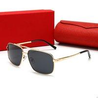 Cartier 2107 cores Hot venda óculos sem aro madeiras óculos de sol chifres Natural preto búfalo dos homens para óculos mulheres luxo óculos oz