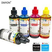 DMYON PGI580 CLI581 encre Kit de recharge compatible pour Canon TR7550 TR8550 TS6150 TS6151 TS8150 TS8151 TS8152 TS9150 TS9155 Imprimante