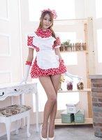 Livraison gratuite cosplay lingerie sexy Nouveau point rouge vague japonaise Kawaii servante cosplay costume costume servante l'anime uniform00