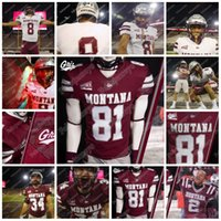 2020 Montana Grizzlies 12 Kris Brown 5 Garrett Graves 2 Camron Humphrey 11 Dalton Sneed 14 Ryan Arntson NCAA College Football Jersey