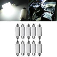 YOLU 10 قطعة السيارات LED السيراميك يميل مزدوجة أضواء 3030 مصباح مقصورة 2SMD مصابيح القراءة لوحة ترخيص ضوء