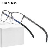 Moda occhiali da sole cornici fonex lega occhiali da vista telaio uomo quadrato myopia prescrizione occhiali ottici 2021 metallo maschile in metallo corea
