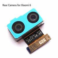 New Original principal Voltar Camera Para Xiaomi 6 câmera traseira cabo flexível que enfrentam a câmera modelo 100% de células testadas Telefone Parts