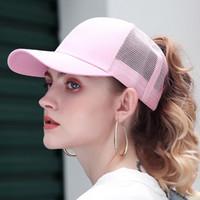 2020 brillo gorra de béisbol de las mujeres casquillos ajustables Messy Bun Sombrero Negro niñas algodón ocasional del Snapback de verano gorro