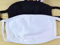 100pcs anti-poussière coton bouche masque masque unisexe homme femme cyclisme portant masques de coton de mode noir de bonne qualité