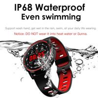 L8 سمارت ووتش الرجال IP68 للماء PPG ضغط الدم معدل ضربات القلب الساعات الرياضية smartwatch لالروبوت