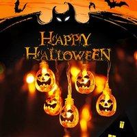 Cadılar Bayramı Işık Dize 2 metre 10 Hayalet Örümcek Kabak Lamba Dize Hayalet Festivali Atmosfer Dekorasyon Led Işık Dize VT1664-2 lambalar