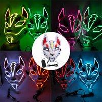 2020 Halloween della mascherina di orrore di copertura di spurgo LED Elezione Mascara costume del partito del DJ Light Up Maschere colori bagliore nel buio per la scelta di Bouti