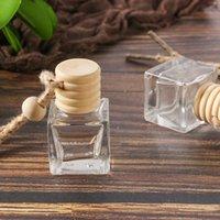 perfume del coche colgante de la botella de perfume ambientador de aire del coche ornamento para la botella de aceites esenciales difusor de fragancia vaso vacío HHF1723