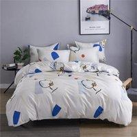 3pcs Bettwäsche Cotton Set 2020 Hot Sale Bettbezug Bett Suits Bettbezug Kissen- King Size Luxus Bettwäsche-Sets