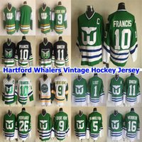 Hartford Whalers CCM Vintage Hockey Jersey 10 Ron Francis Jersey 1 Mike Liut 16 Pat Verbeek 11 Kevin Dineen 5 Ulf Samuelsson Mens