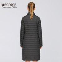 Eşarplara 200.921 ile MIEGOFCE Yeni Bahar Tasarım Uzun Modelleri Kadınlar Ceket Nefis kapitone Kadın Coat Bahar Windproof Uzun Coat
