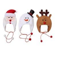 Рождество Санта-Клаус шляпы для взрослых Дети руно мультфильм Cap партия шляпы Снеговик Эльф костюм рождественские украшения Для детей Для взрослых Xmas HH9-3300