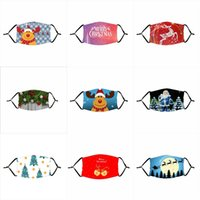 Çocuk Noel Maske Noel Baba Elk Galaxy Erkekler Kadınlar Ağız 1 Filtre Noel Karikatür Yeniden kullanılabilir Toz Parti Siyah Veli Çocuk Yüz Maskesi