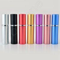 5ml Tragbare Mini Aluminium Nachfüllbare Parfümflasche mit sprühregener Makeup-Behälter mit Zerstäuber für Reisende RRA3607