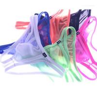 Sexy Breathbale Трусы Designe Solid Color промежности Underwears Мужчины моды Diary низкой талией Трусы мужские Тонкий