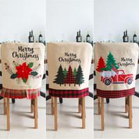Chair di Natale Babbo Natale Covers copertura Cena sedia cover posteriore Sedie Cap Set natale di Natale casa banchetto di nozze Decor CCA12524