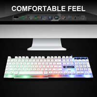 Anti-Rutsch-LED Regenbogen-Backlit Keyboard Set Splash Proof 104 Key Computer PC Ergonomischer Wired USB Gaming Mouse Ersatzteile