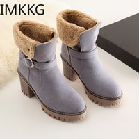 Snow Boots Women Winter Shoes Thick Warm Plush for Cold Wint...